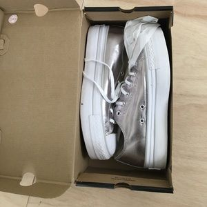 Converse All Star sneakers in silver metallic
